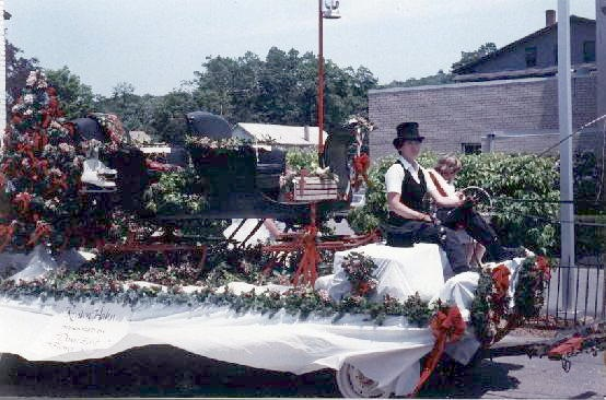 Sleigh on Parade Float