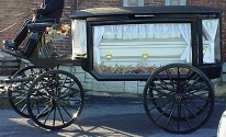 Hearse With White Curtains