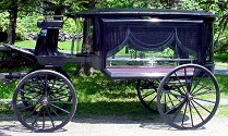 Hearse With Black Curtains